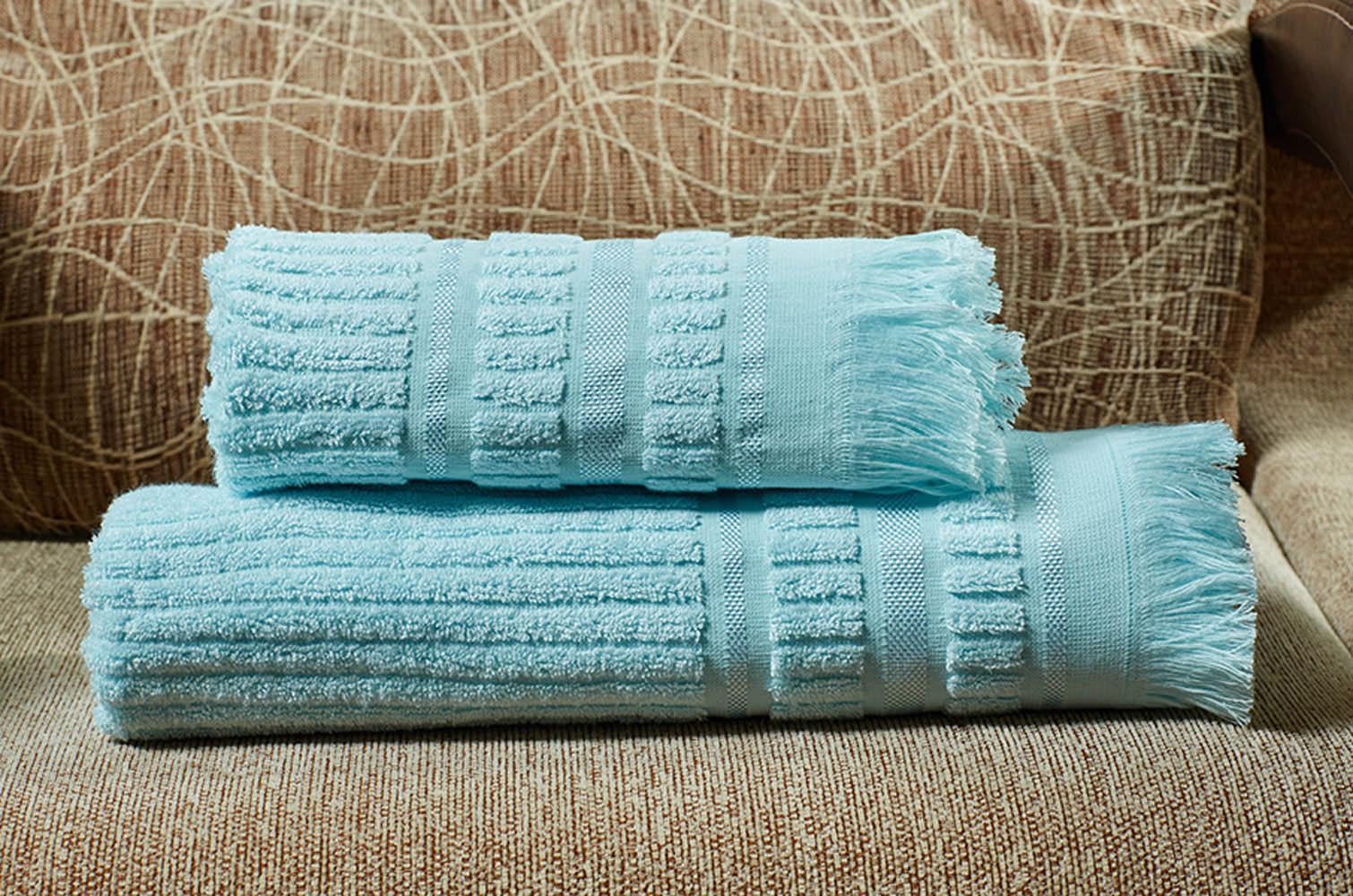 Полотенца Primavelle Полотенце Marco Цвет: Голубой (70х140 см) цена и фото