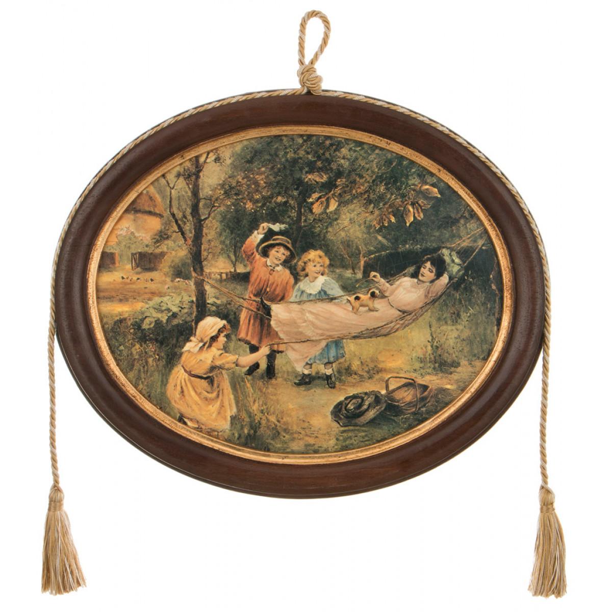 {} Dekor Toscana Картина Hellen (2х30х36 см) салфетки iq dekor дорожка хлопок 50х120