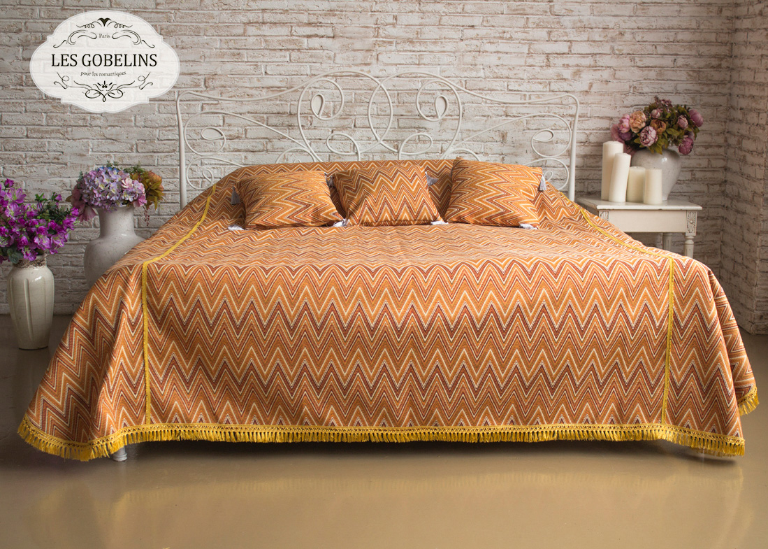 Покрывало Les Gobelins Покрывало на кровать Zigzag (240х260 см) покрывало karna покрывало evony цвет пудра 240х260 см
