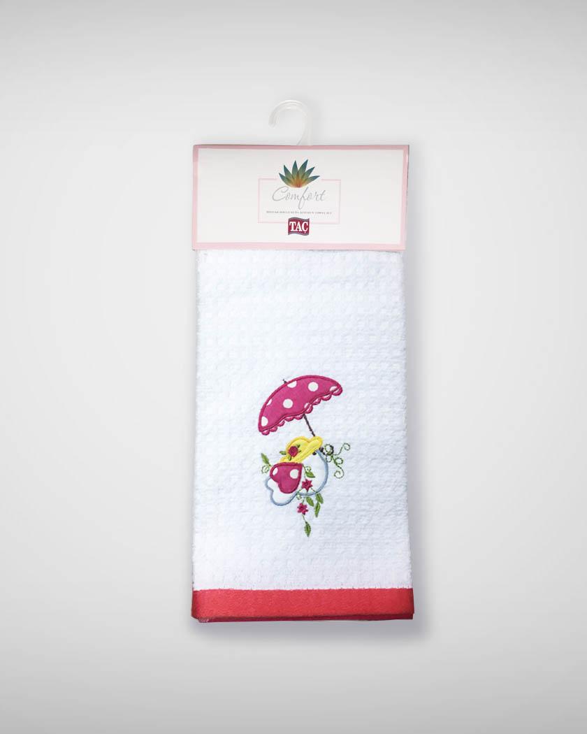 {} TAC Кухонное полотенце Chick Цвет: Красный (40х60 см - 2 шт) bon appetit кухонное полотенце cake цвет голубой 40х60 см 2 шт