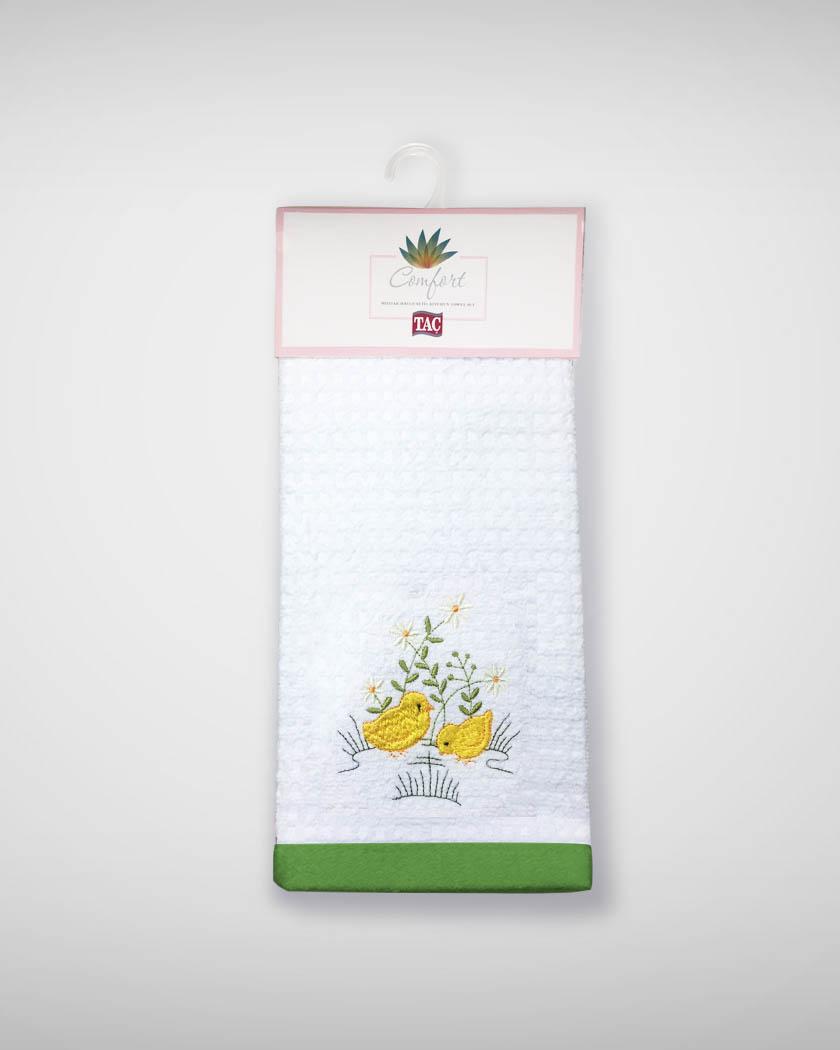 {} TAC Кухонное полотенце Chick Цвет: Желтый (40х60 см - 2 шт) bon appetit кухонное полотенце cake цвет голубой 40х60 см 2 шт