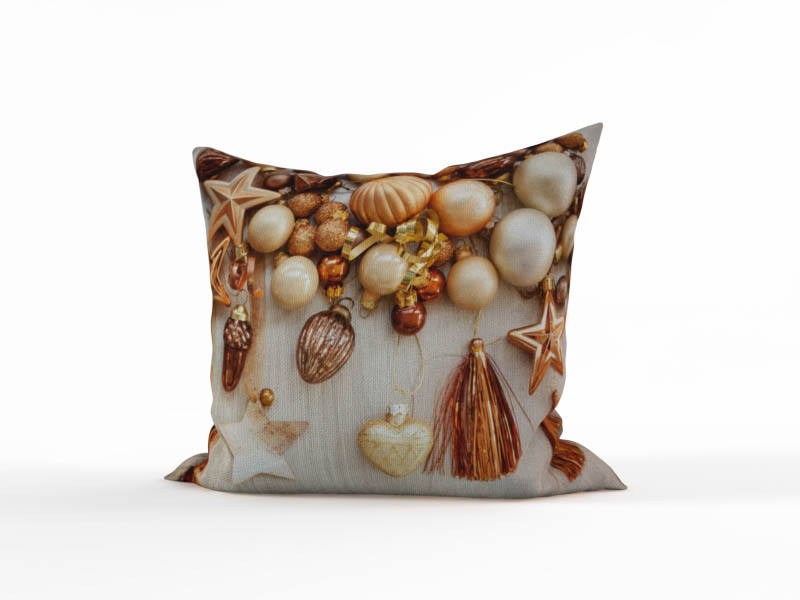Декоративные подушки StickButik Декоративная подушка Золотистые Шарики (45х45)