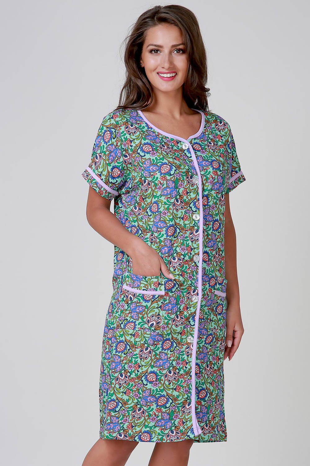 Домашние халаты Pastilla Домашний халат Лаванда (xxL-xxxL) домашние халаты pastilla домашний халат муза цвет коралл xxl xxxl