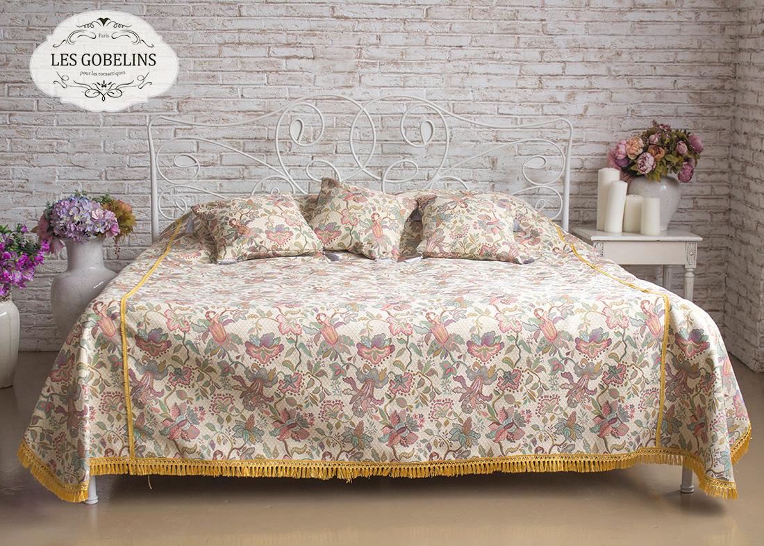 Покрывало Les Gobelins Покрывало на кровать Loche (230х230 см) желтое покрывало на кровать