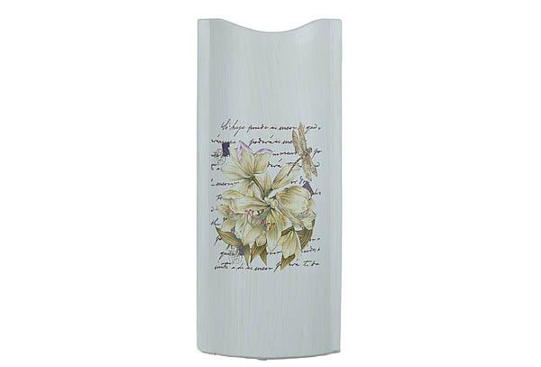 {} ENS GROUP Ваза Белая Лилия (14х6х32 см) ваза керамика напольная 60 см цветущая лилия 1044984