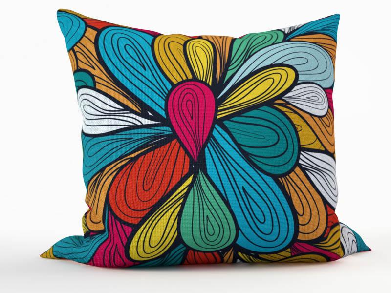 Декоративные подушки StickButik Декоративная подушка Цветные Нити (45х45)