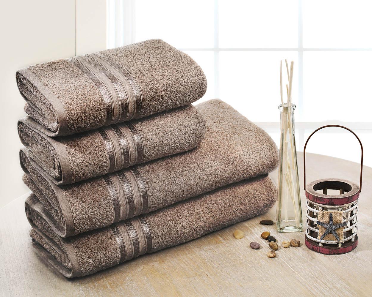 Полотенца Dome Набор из 4 полотенец Harmonika Цвет: Коричневый полотенца кухонные la pastel набор полотенец 4 предмета из микрофибры 30х30