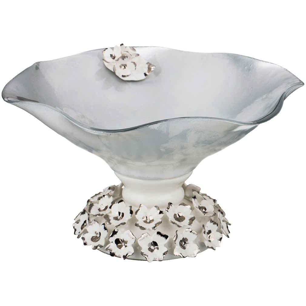 {} Franco s.r.l. Декоративная чаша Darien (12х22 см) millennio чаша декоративная kennith 12х34х35 см