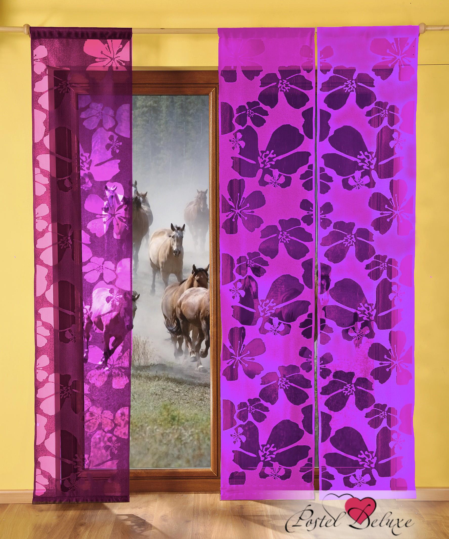 Шторы Wisan Японские шторы Kwiaty Цвет: Фиолетовый