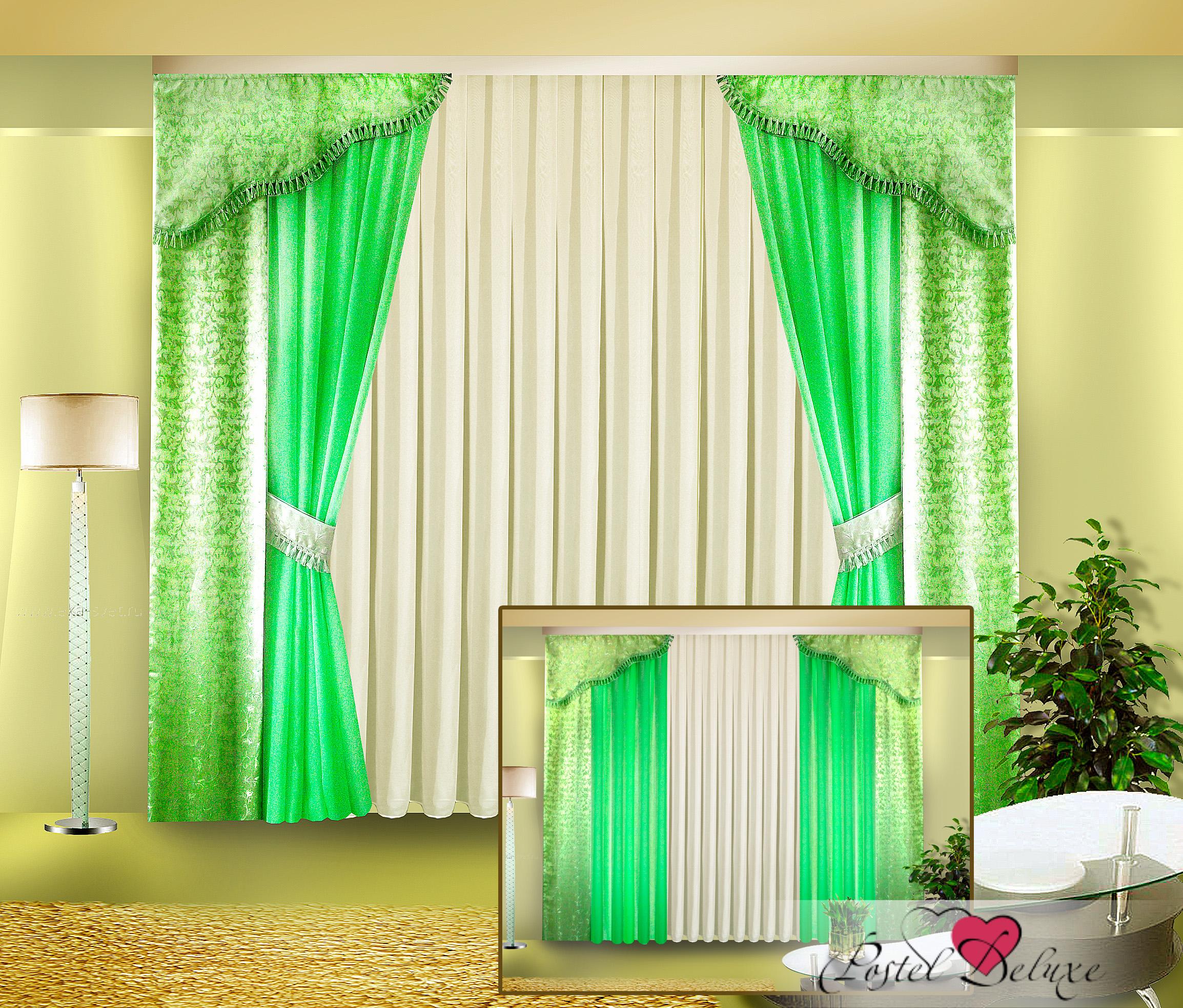 Шторы Zlata Korunka Классические шторы Цвет: Зеленый шторы tac классические шторы winx цвет персиковый 200x265 см