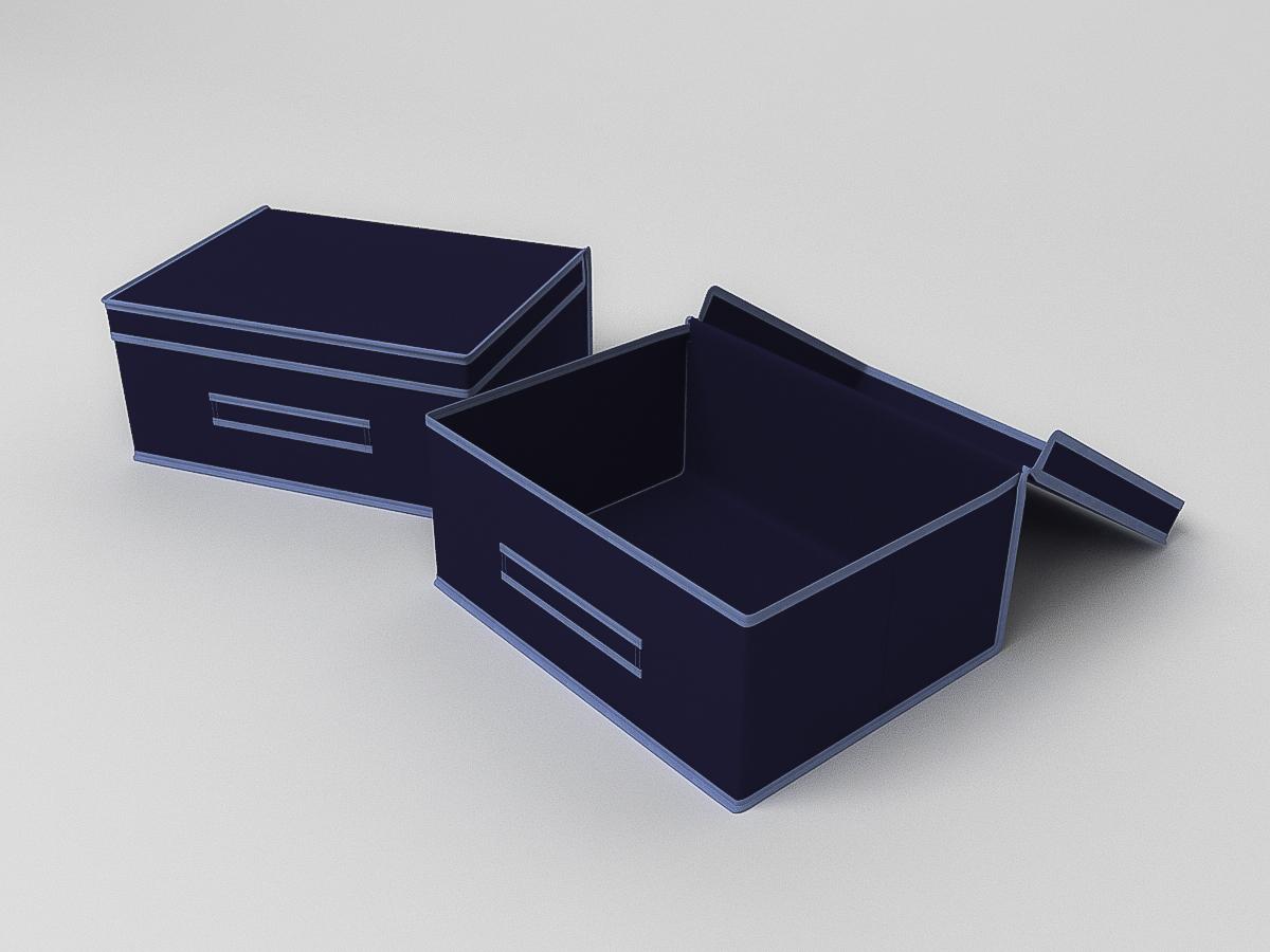 {} CoFreT Кофр для хранения Классик Цвет: Синий (30х35х45 см)