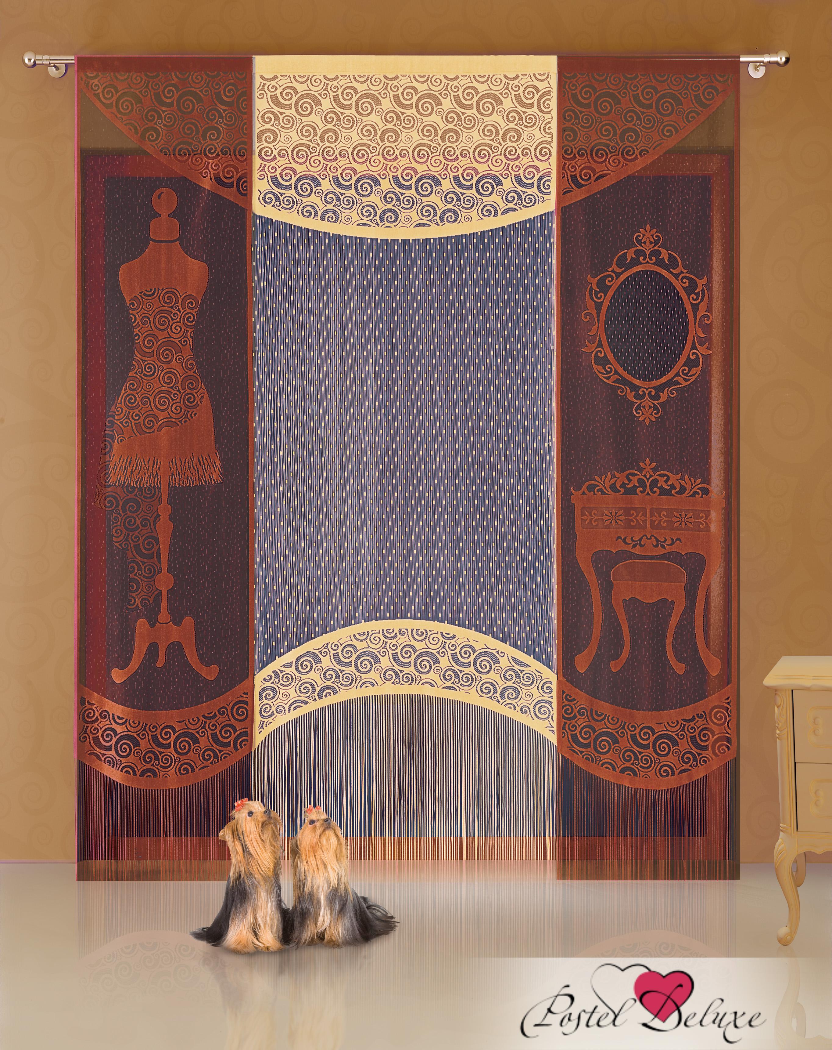 Шторы Wisan Японские шторы Цвет: Коричневый комплект штор для кухни wisan celina на ленте цвет белый оранжевый высота 180 см