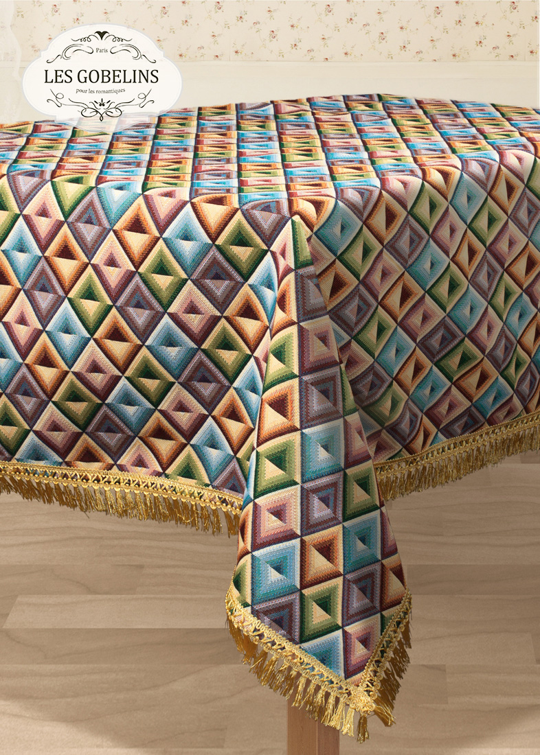 Скатерти и салфетки Les Gobelins Скатерть Kaleidoscope (130х260 см)