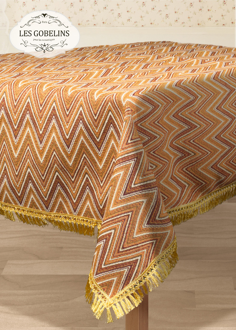 Скатерти и салфетки Les Gobelins Скатерть Zigzag (140х140 см) скатерти duni скатерть 138х220 d s