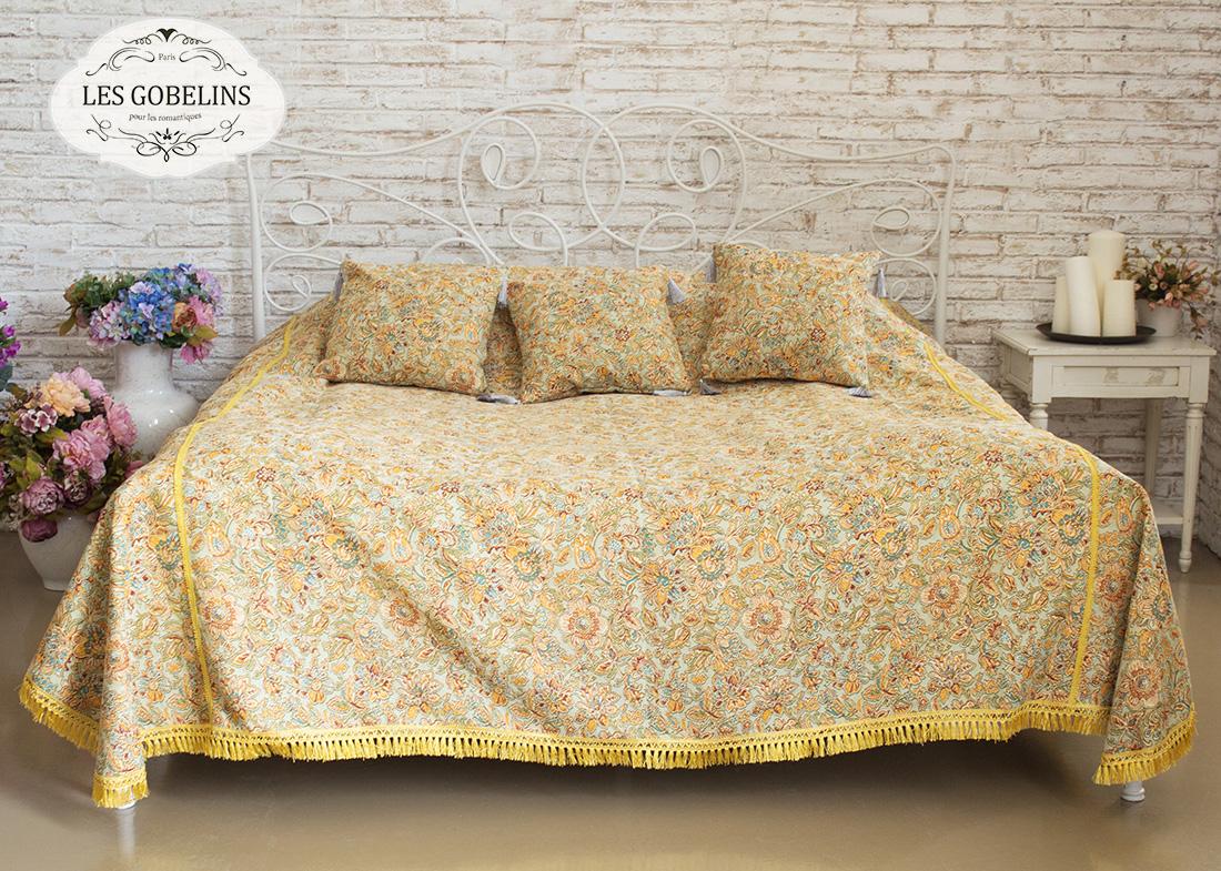 где купить Покрывало Les Gobelins Покрывало на кровать Vitrail De Printemps (150х220 см) по лучшей цене