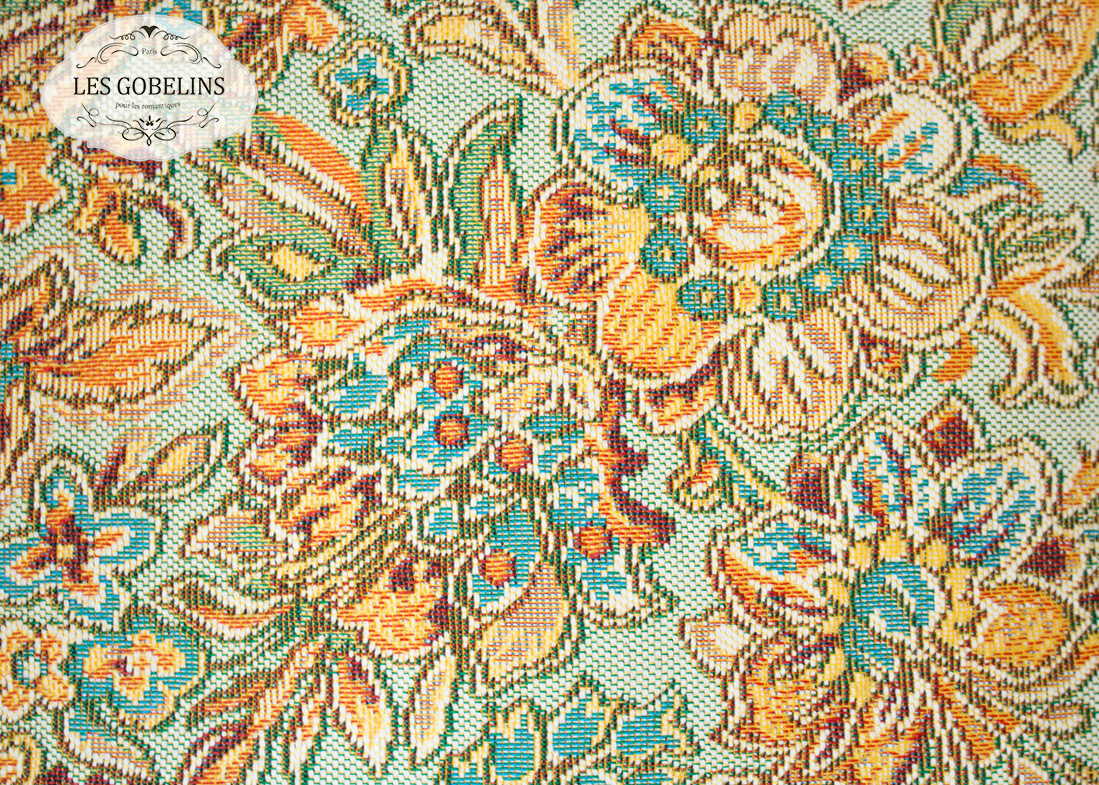 где купить Покрывало Les Gobelins Накидка на диван Vitrail De Printemps (140х210 см) по лучшей цене