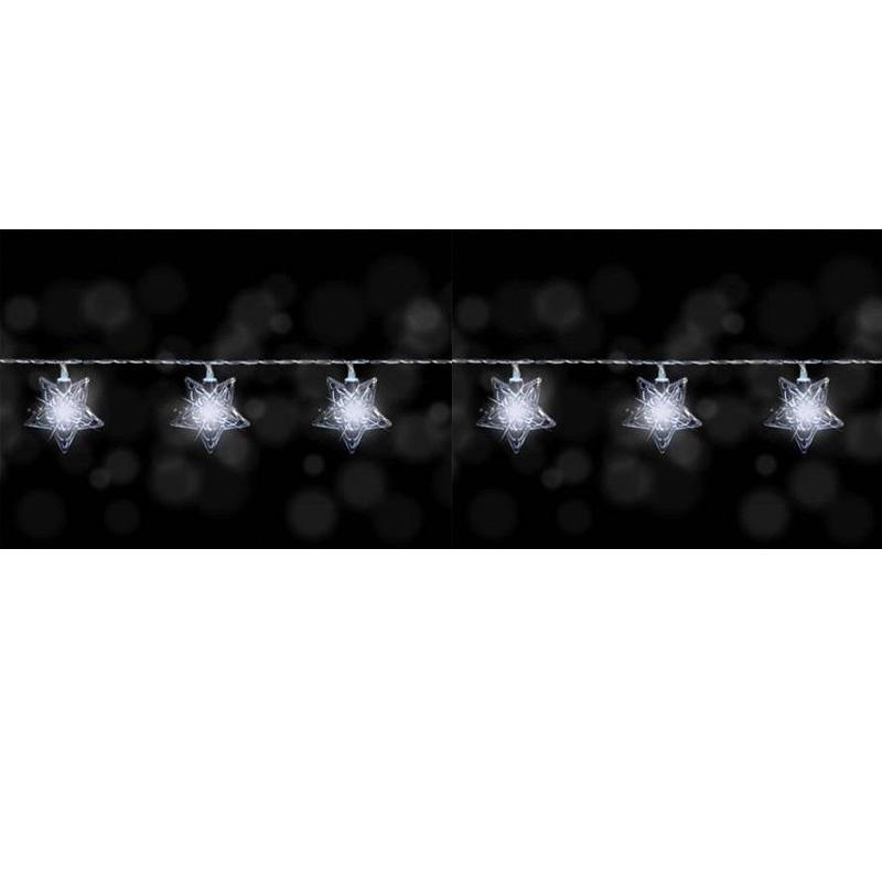 {} Гирлянда светящаяся Звезды Цвет: Белый (135 см) wiegand 26 input