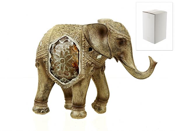 {} ENS GROUP Фигурка Золотой Слон (9х19х24 см) маска карнавальная для вечеринки ens 19 9 см