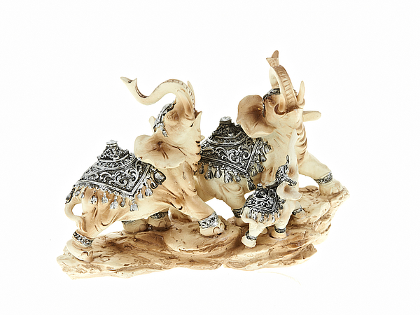 {} ENS GROUP Фигурка Белые Слоны (8х15х21 см) hoff декоративная фигурка 15 см слоны