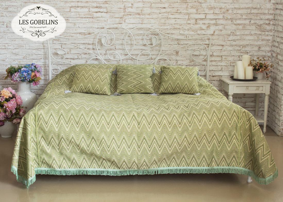 Покрывало Les Gobelins Покрывало на кровать Zigzag (220х220 см) желтое покрывало на кровать