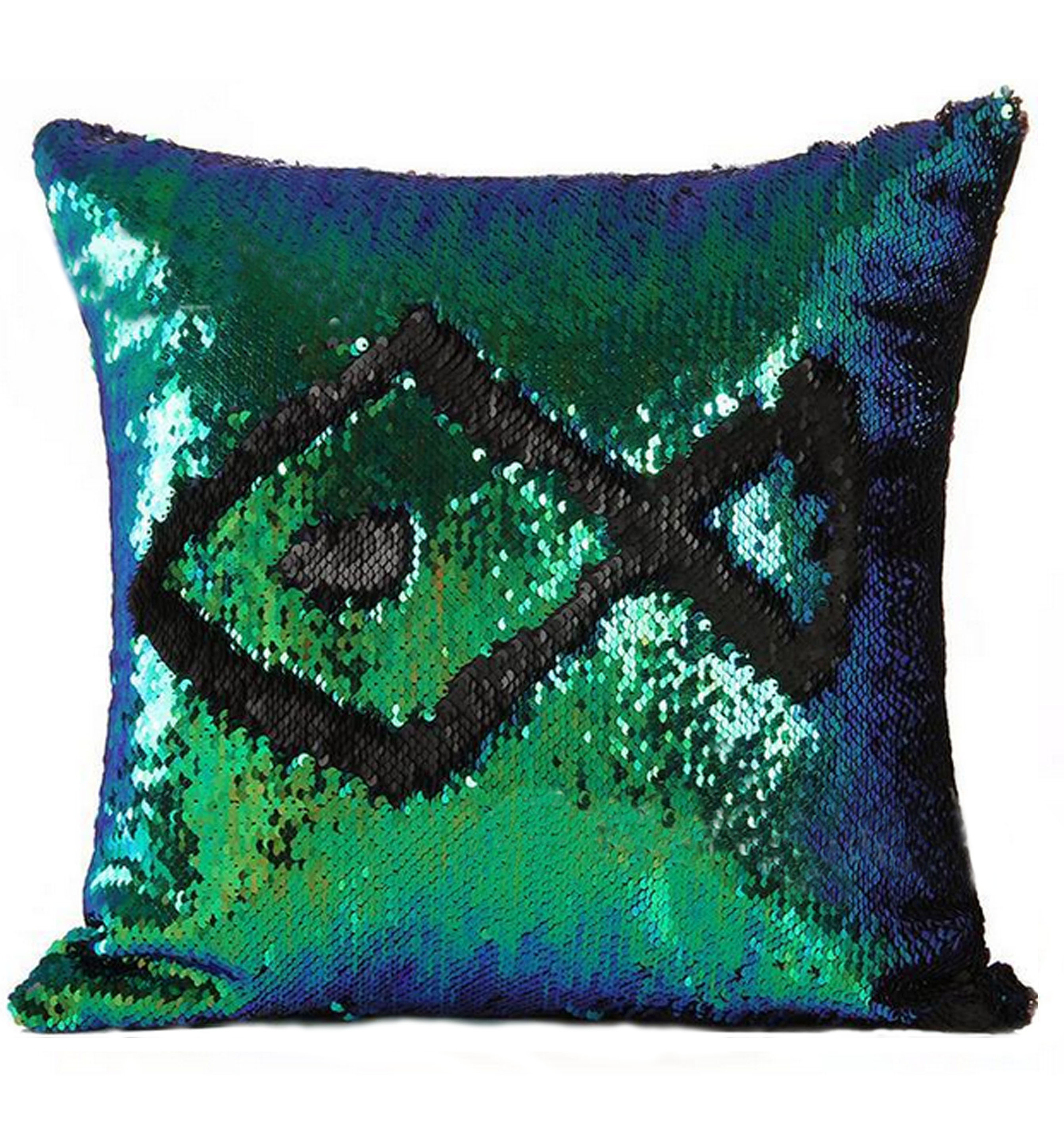 цена Декоративные подушки Good Mood Декоративная подушка с пайетками Magic Shine Цвет: Черный Бриз (40х40) онлайн в 2017 году
