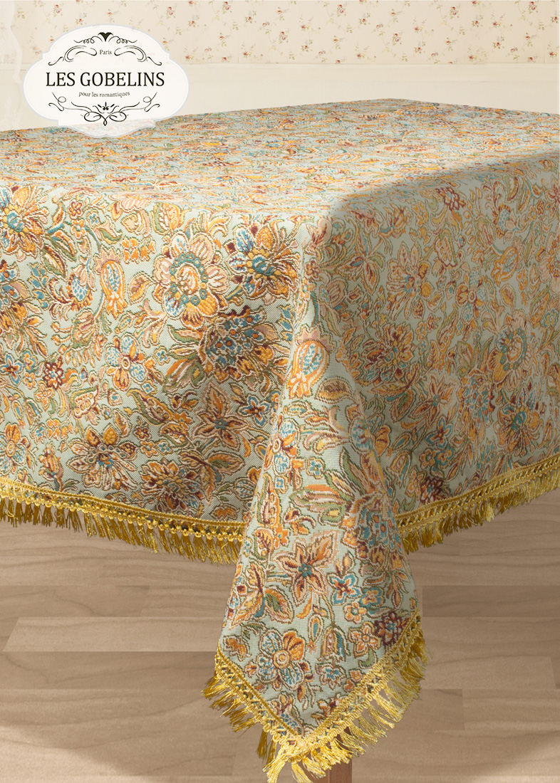 Скатерти и салфетки Les Gobelins Скатерть Vitrail De Printemps (130х130 см)