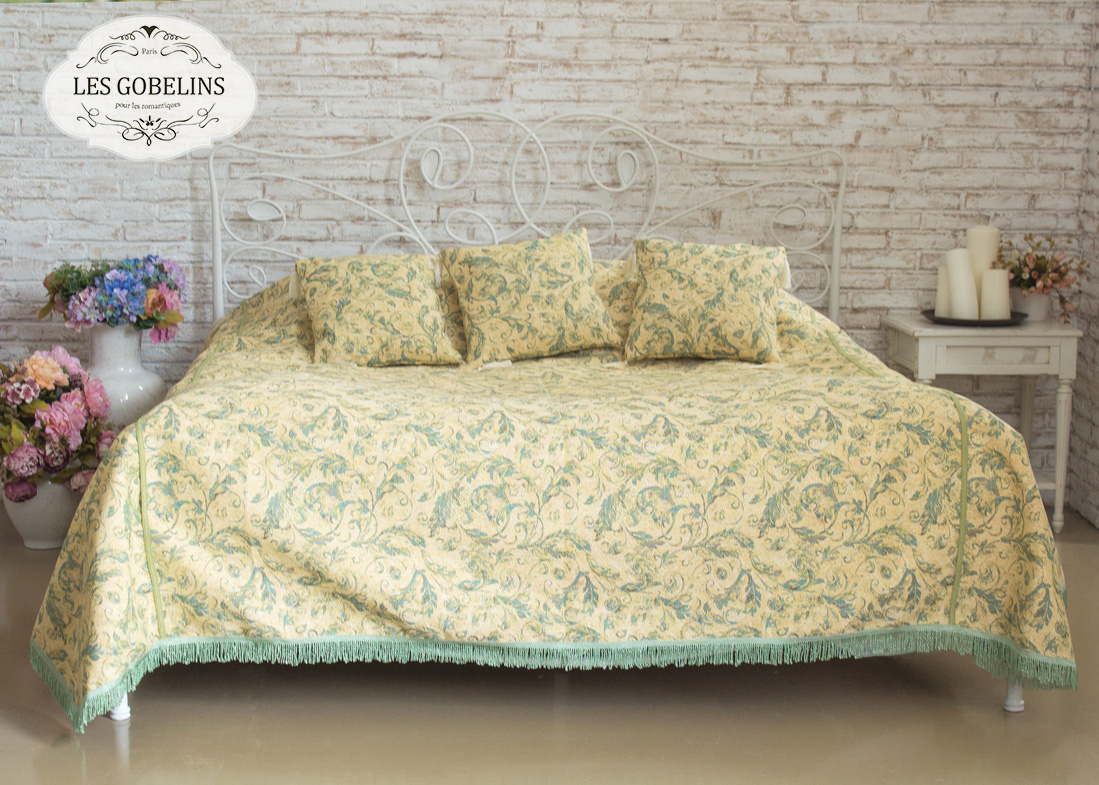 Покрывало Les Gobelins Покрывало на кровать Jeune Verdure (240х260 см) покрывало karna покрывало evony цвет пудра 240х260 см