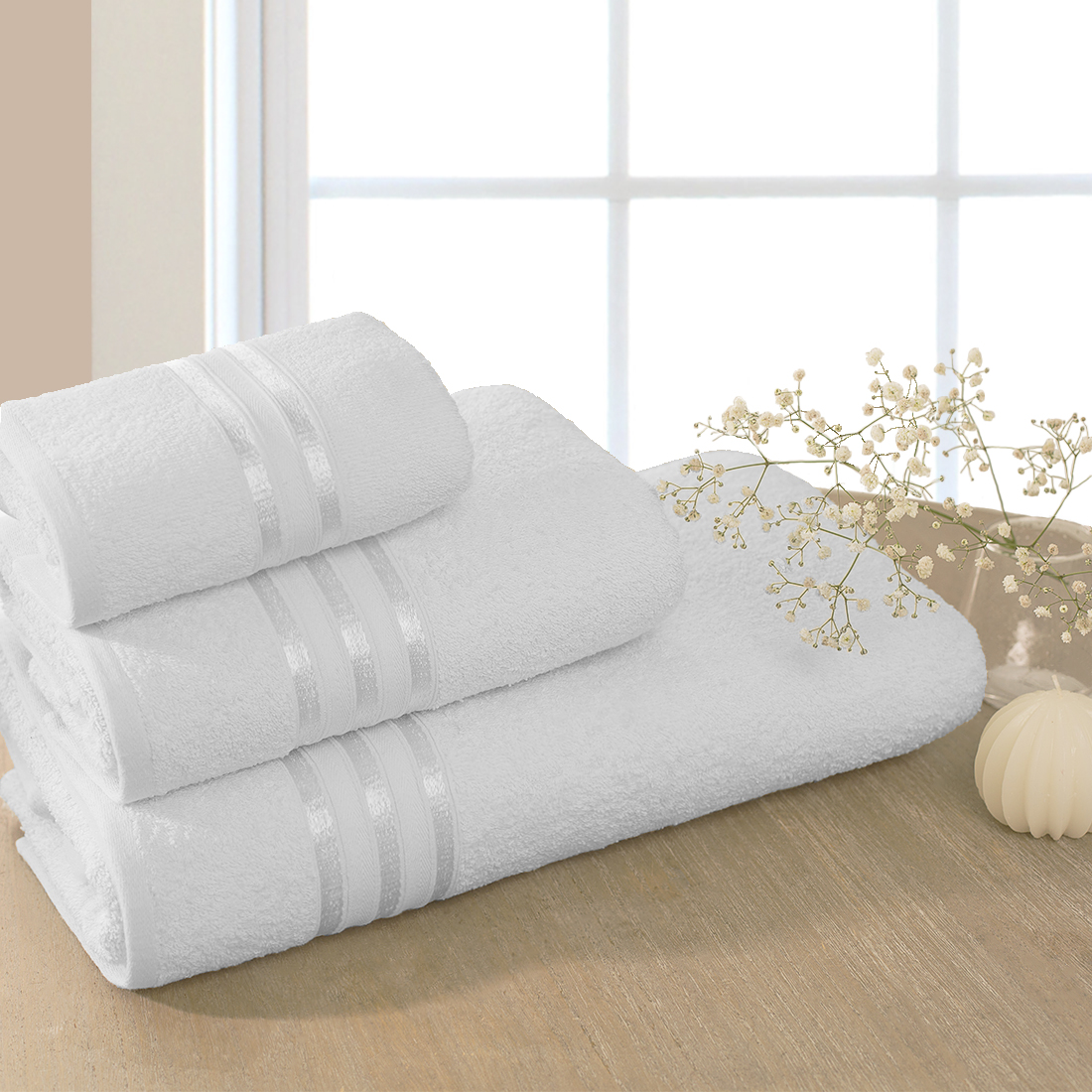 Полотенца Dome Полотенце Harmonika Цвет: Белоснежный (70х130 см)