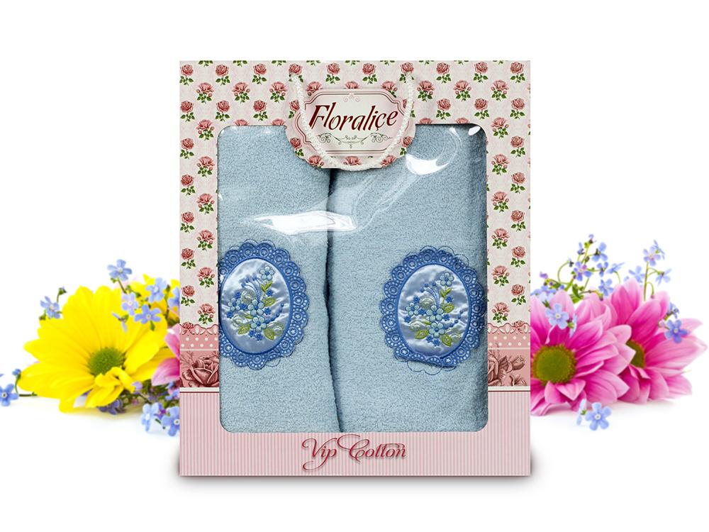 Полотенца Gulcan Полотенце Floralice Цвет: Голубой (Набор) cite marilou полотенце 30x50 цвет голубой