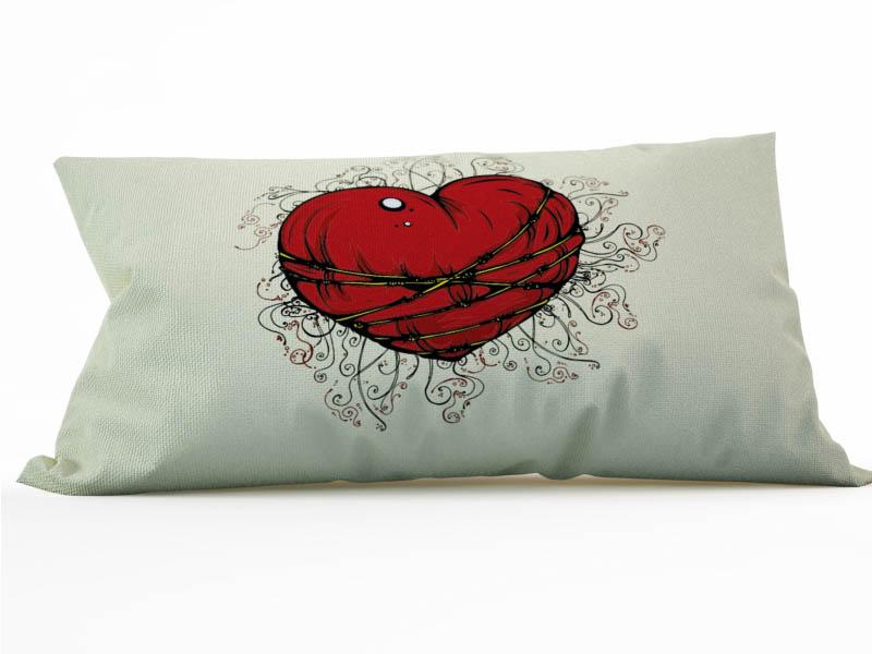 Декоративные подушки StickButik Декоративная подушка Шелковое Сердце (25х45) подушки декоративные maxitoys декоративная подушка сердце с ручками