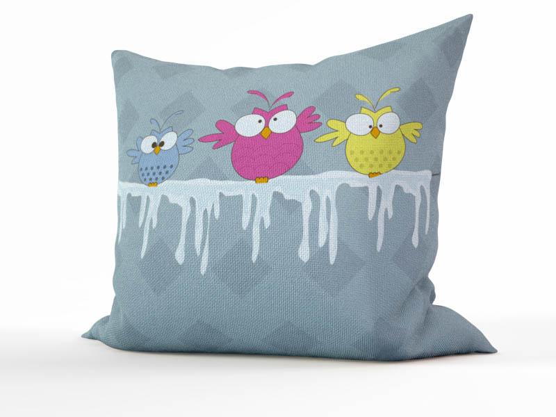 Декоративные подушки StickButik Декоративная подушка Замерзшие Птички  (45х45)