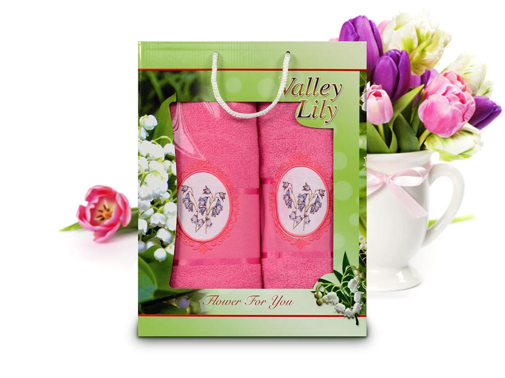 Полотенца Gulcan Полотенце Valley Цвет: Ярко-Розовый (Набор) набор из 3 полотенец merzuka sakura 50х90 2 70х140 8432 терракотовый