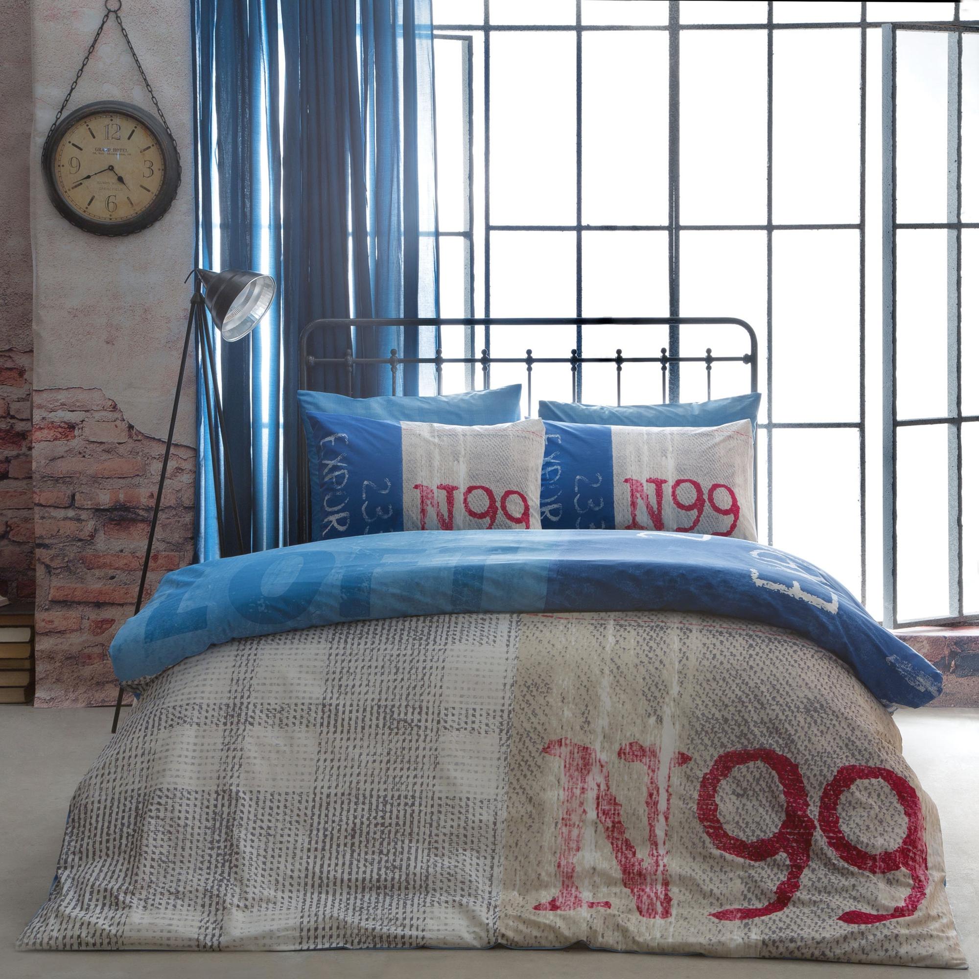 Постельное белье TAC Постельное белье Loft Цвет: Синий (1,5 спал.) постельное белье tac в спб