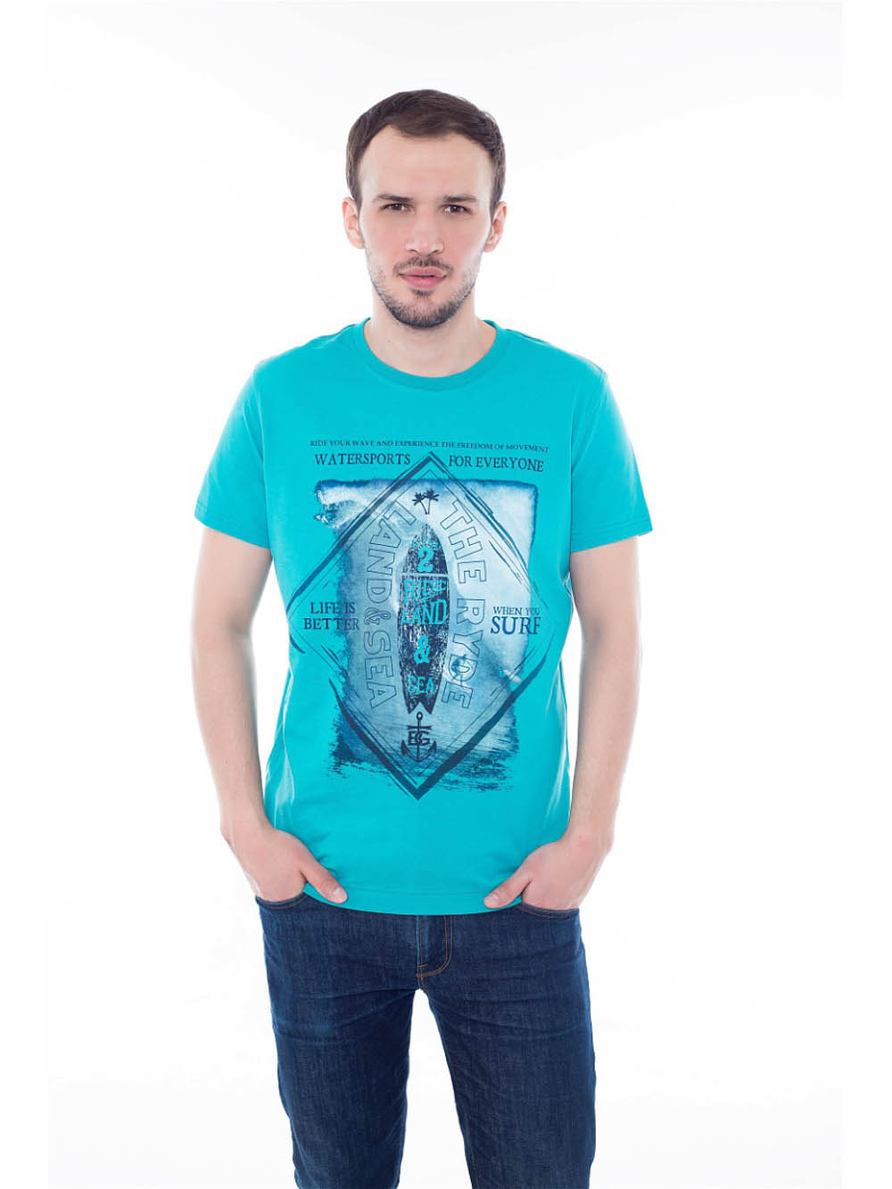 Футболки BeGood Футболка Water Sports Цвет: Ментол (L-xL) футболки begood футболка three цвет фуксия xl