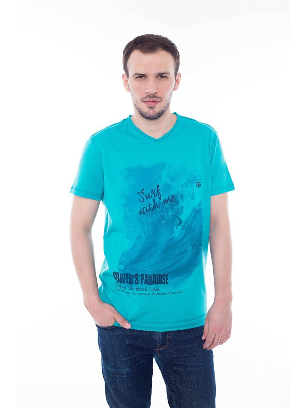Футболки BeGood Футболка Paradise Цвет: Ментол (L-xL) футболки begood футболка three цвет фуксия xl