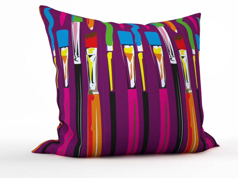Декоративные подушки StickButik Декоративная подушка Энергия Цвета (45х45)