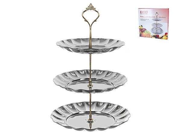 {} Best Home Kitchen Тарелка-этажерка Marlie (33 см) тарелка gold space home