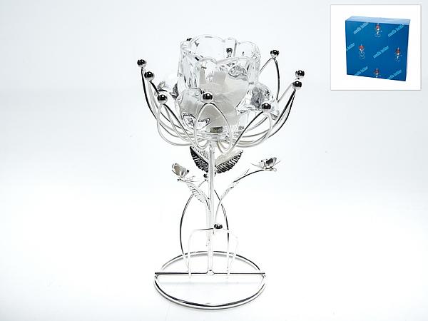 {} ENS GROUP Подсвечник Белый Цветок (10х10х17 см) подставка под ложку ens group чайная роза