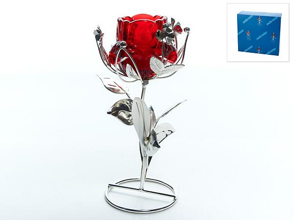 {} ENS GROUP Подсвечник Красный Цветок (10х12х18 см) ens group карандашница телефон 12 см