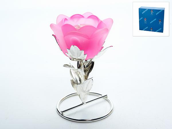 {} ENS GROUP Подсвечник Розовый Цветок (8х8х12 см) ens group подсвечник нежный тюльпан 12х12х38 см