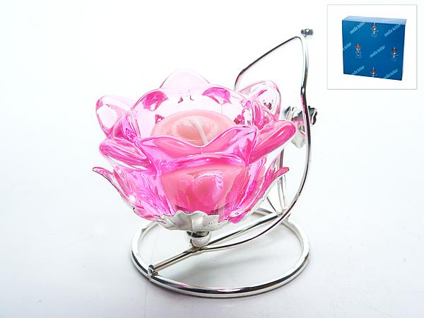 {} ENS GROUP Подсвечник Розовый Цветок (8х10х10 см)