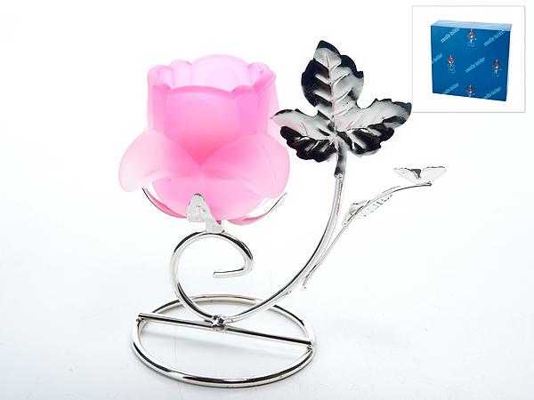 {} ENS GROUP Подсвечник Розовый Цветок (8х12х14 см) ens group карандашница телефон 12 см