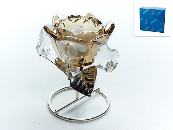 {} ENS GROUP Подсвечник Золотой Цветок (8х10х11 см) подставка под ложку ens group лето в европе