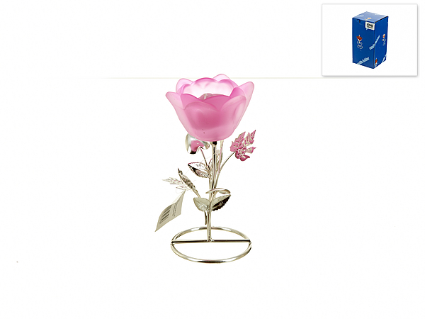 {} ENS GROUP Подсвечник Розовый Цветок (8х8х16 см) ens group набор кружек веселый горошек 230 мл