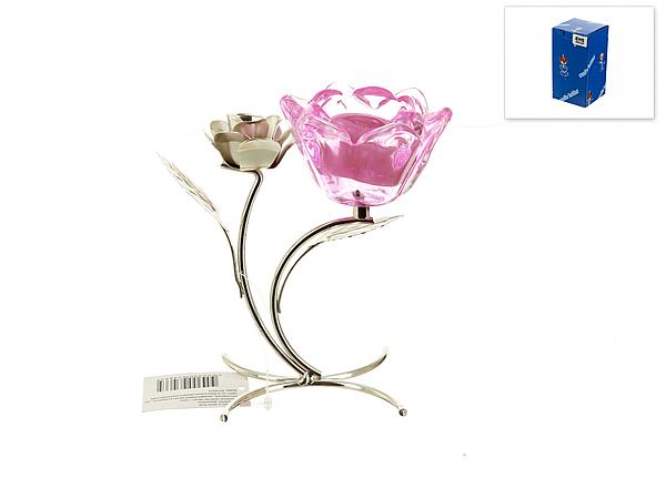{} ENS GROUP Подсвечник Розовый Цветок (8х14х14 см) ens group подсвечник нежный тюльпан 12х12х38 см