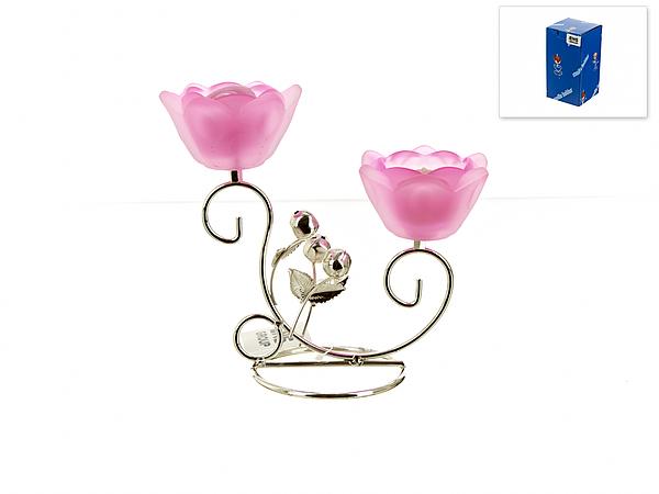 {} ENS GROUP Подсвечник Розовый Цветок (9х18х18 см) ens group подсвечник красный цветок 9х19х20 см