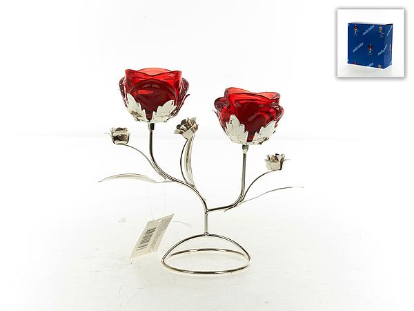 {} ENS GROUP Подсвечник Красный Цветок (9х19х20 см) подставка под ложку ens group лето в европе