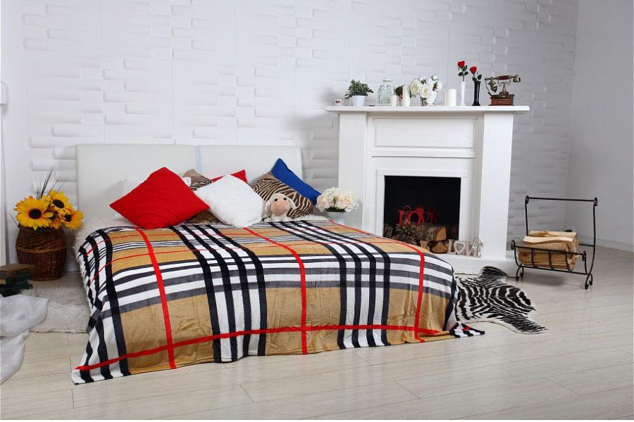 Плед HONGDA TEXTILE Плед Орнамент Цвет: Шотландка (150х200 см) пледы hongda textile лань ворсистый плед 270 г м2