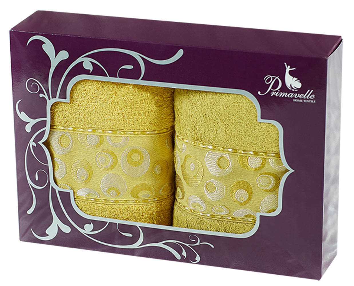 Полотенца Primavelle Полотенце Adele Цвет: Золото+Горчичный (50х90 см - 2 шт) цена и фото