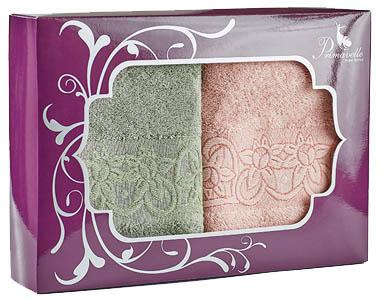 Полотенца Primavelle Полотенце Deni Цвет: Чайная Роза+Зеленый Чай (50х90 см - 2 шт ) цена и фото